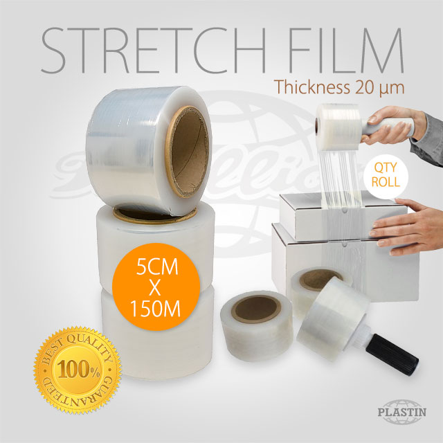 LLDPE Stretch Film 5cm x 150M / Roll