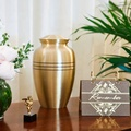 Brass Matt keepsake urns ashes large urns onyx cremation urns