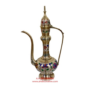 Small  Brass Colorful Aftaba