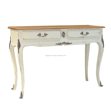 Best Quality White Console Wood Table with 2 Drawer Home Furniture