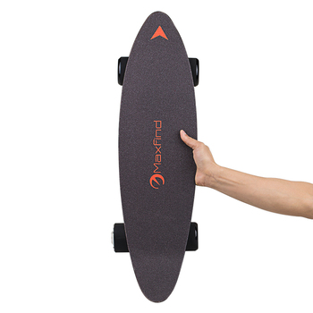 Electric Skateboard Top Speed 16 MPH, Max Range 10 MILES, Single 400 W Motors with Remote Control
