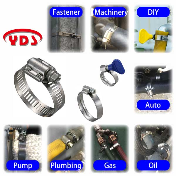 Radiator stainless steel micro hose pipe clamp