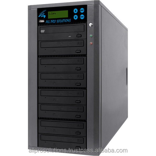 All Pro Solutions M-Duo-5 Standalone Manual 1 to 7 Drive CD DVD Duplication Machine + USB Flash Copy to Disc