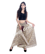 Cotton gypsy yoga belly dance Trouser Skirt - Tribal Trousers pants- paisley print Trouser