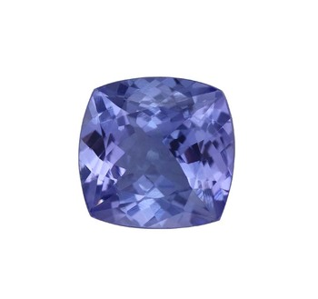 top quality cushion cut natural AAA tanzanite gemstones