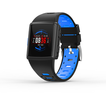 multi motion smart watch with music control call notification build in GPS and dynamic heart rate monitor