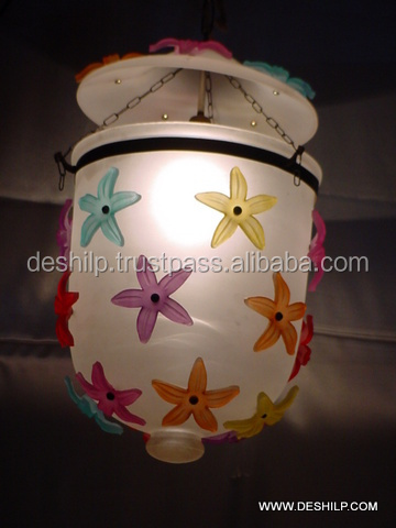 Glass Frost Hanging Lamp With Fitting
