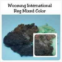 Made in Korea Polyester Staple Fiber Virgin Fiber _Recycled Solid Mixed Color Fiber