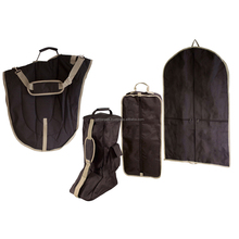 Black Equestrian Carry Bags for Saddle Halter Bridle Boot Clothing 4 Items