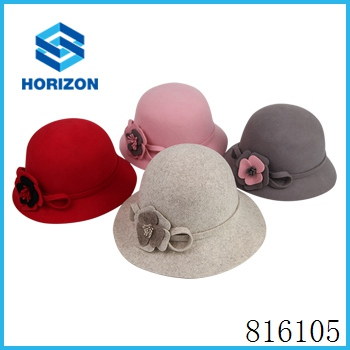 Wholesale Custom Wool Felt Hats Men Fedora Hat