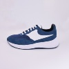 High Quality Blue Leather Sneakers