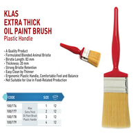 CLASS EXTRA THICK OIL PAINT BRUSH PLASTIC HANDLE BRUSH AND ROLLER BRUSHES