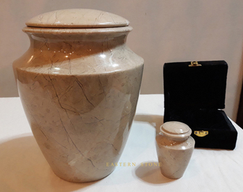 PET BIODEGRADABLE CREMATION URNS, PET ASH URNS, FUNERAL PRODUCTS