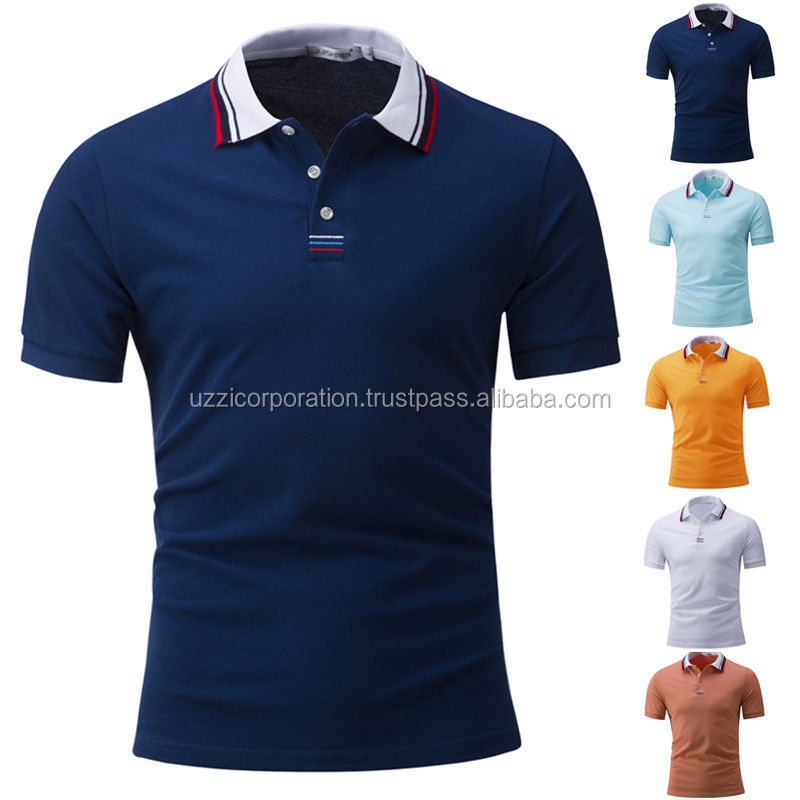 220GSM 100% cotton pique cheap polo t-shirts fashion polo for mens sports wear