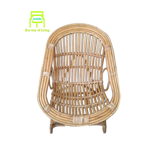 Wholesale high quality luxury outdoor/indoor cheapest wood garden balcony living room brown bamboo chair