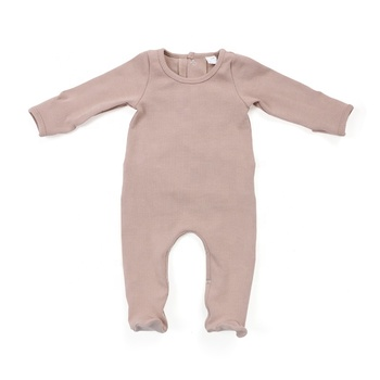 Hot sale ribbed cotton clothing baby infant bodysuit kids rompers