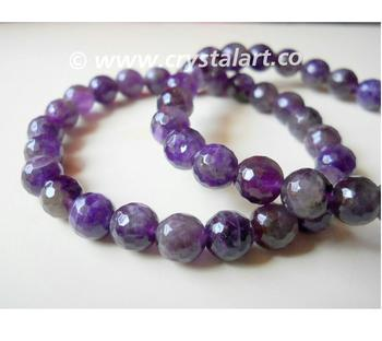 Amethyst Faceted Beads 8 mm Bracelets