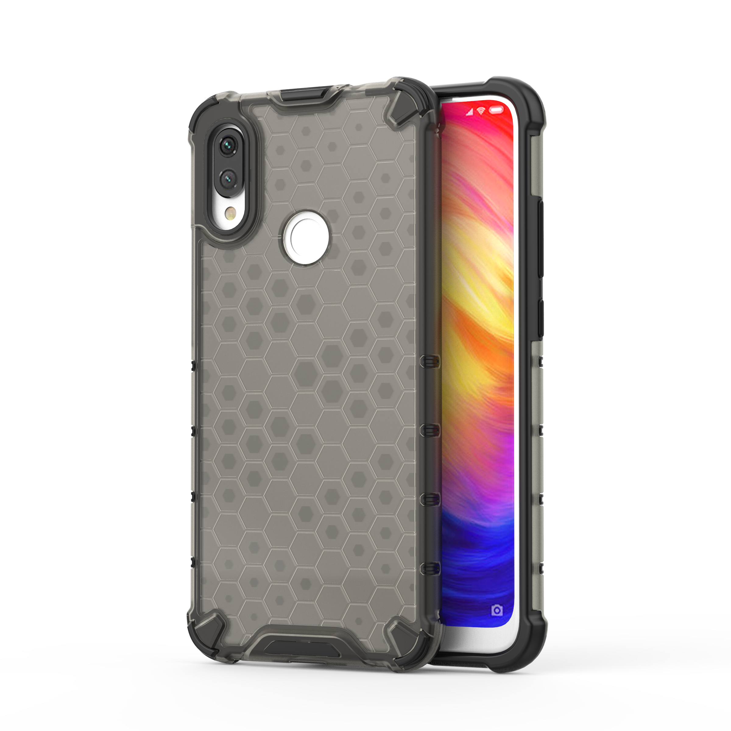 RKINC Back cover Ultra Slim Phone Case Four Corners Honeycomb Pattern Anti Crack Protective For Xiaomi Redmi <strong>Y3</strong>