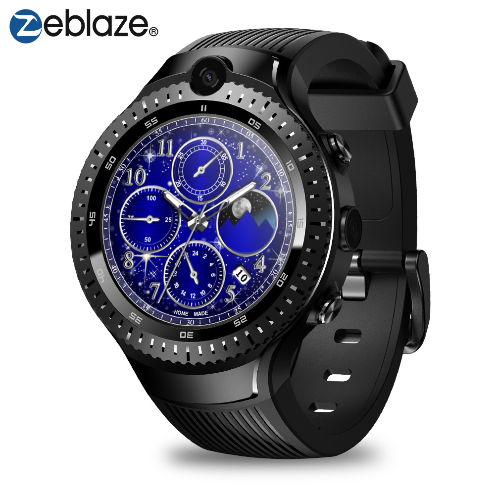 Zeblaze thor 4 dual dual camera 4g Bluetooth smart watch phone watch 4G <strong>1</strong>+16G large memory