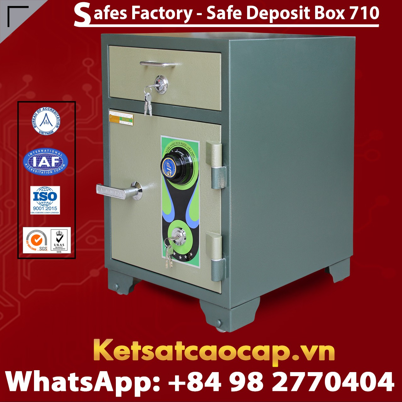 Bank Safe LX710 DK High-quality Cash Drop Box Mechanical Lock System
