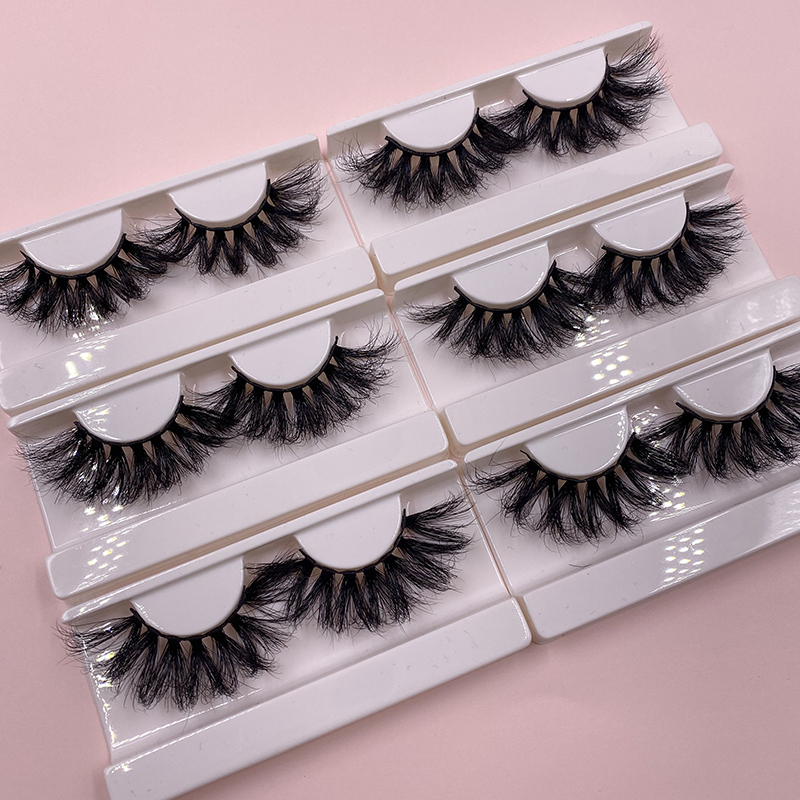 Free sample custom fluffy eyelash packing 25mm private label silk false eyelashes container 3d mink lashes dropshipping