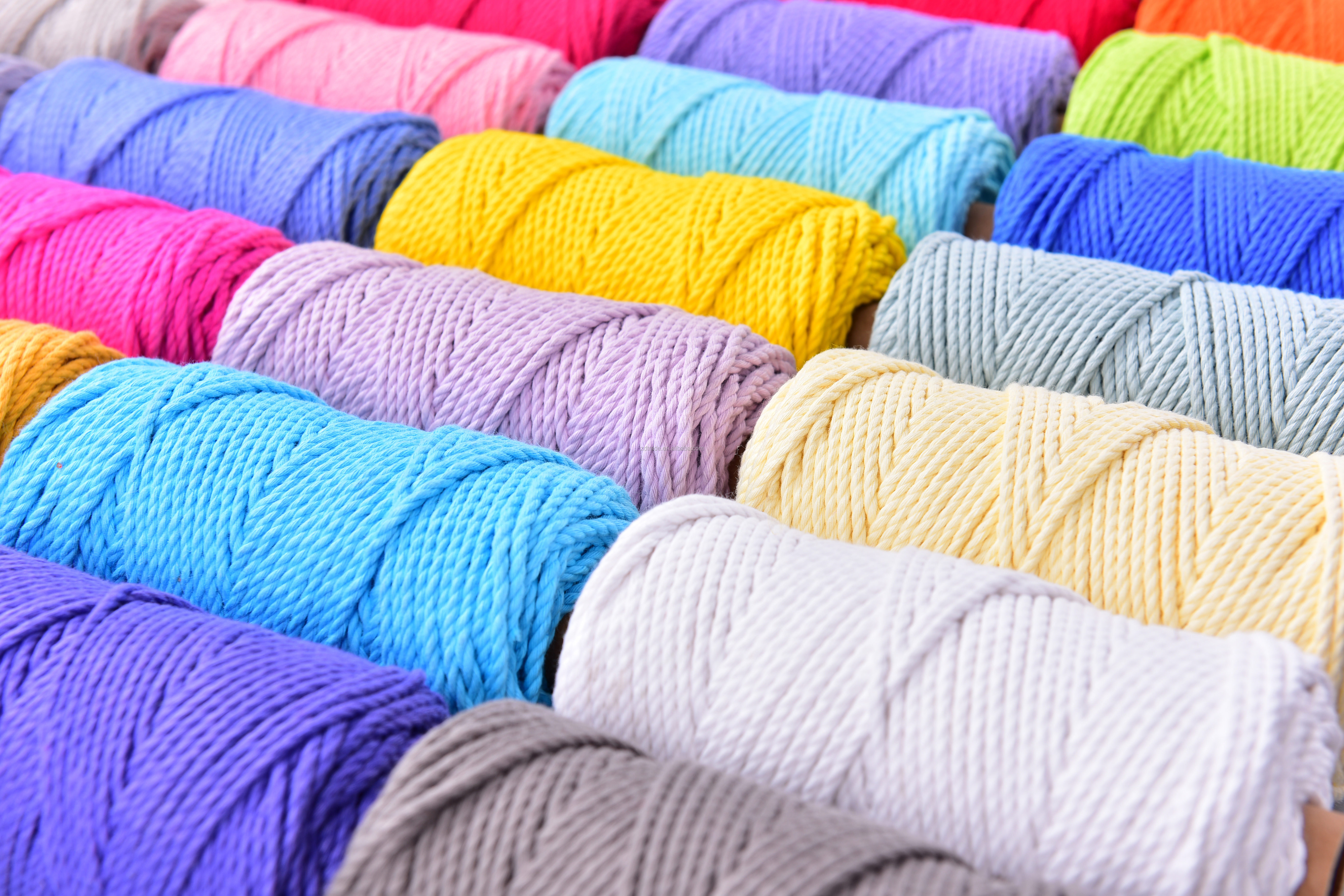 3.0MM/4.0MM Pure Cotton MACRAME ROPE Super Soft Cotton Rope, Macrame Twist rope  300gram