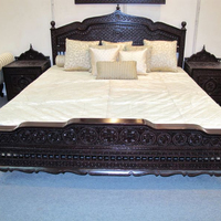 Indian wooden hand carved beautiful bed, living room Furniture