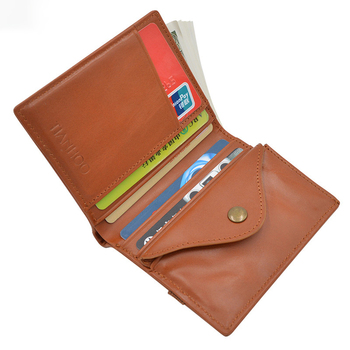 Magic minimalist wallet coin purse genuine leather elastic slim credit card wallet