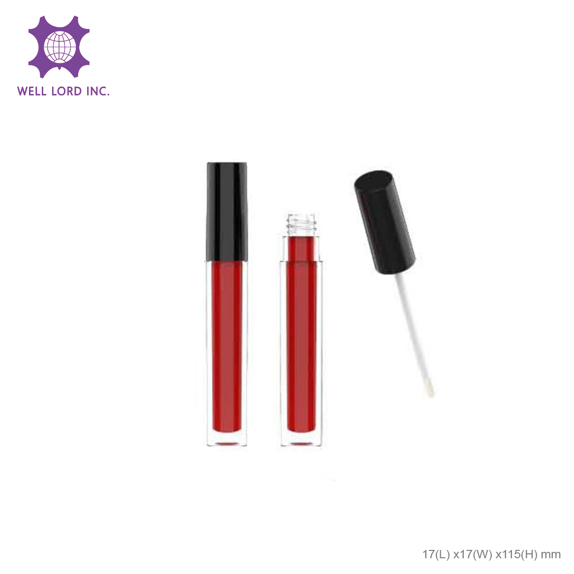 Lip studio glitter long lasting moisture with applicator miss rose lipstick