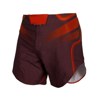 Full sublimation high fiber combat short MMA fight shorts