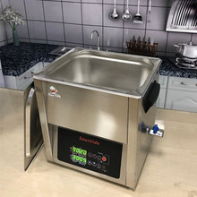 Stainless steel tank with <strong>heater</strong> all area even heated 8x memory preset and Calibration function 10L Commercial Sous Vide Cooker