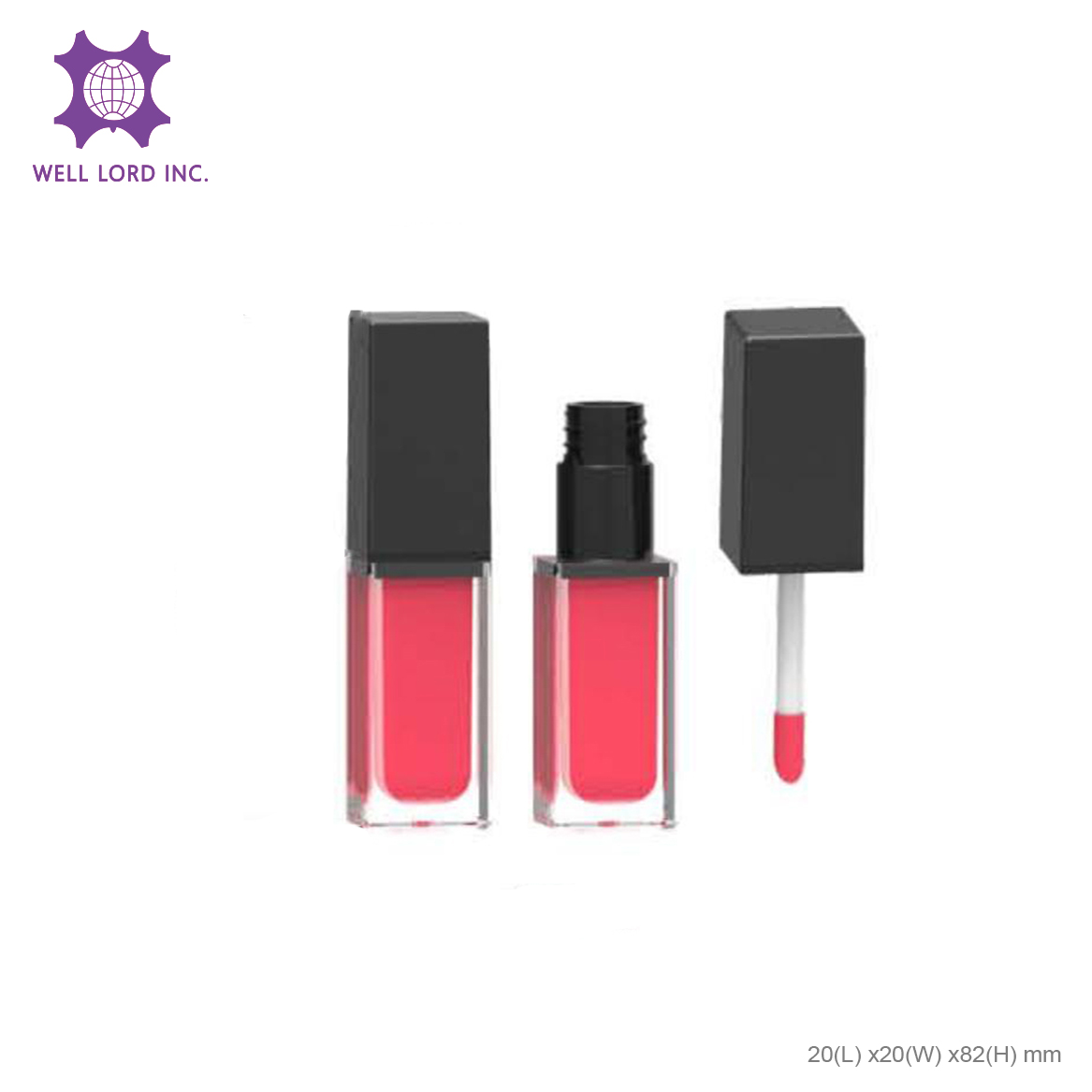 Glossy high pigment cap with customize lip container limited edition beauty lip gloss containers lip shape