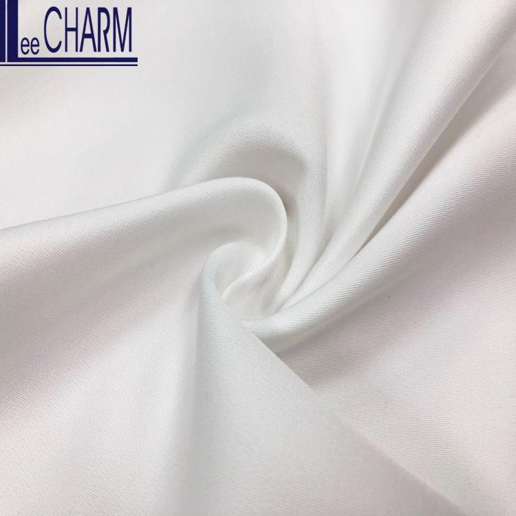 LCFC002 Taiwan Bridal Heavy Twill Polyester Smooth Satin Fabric