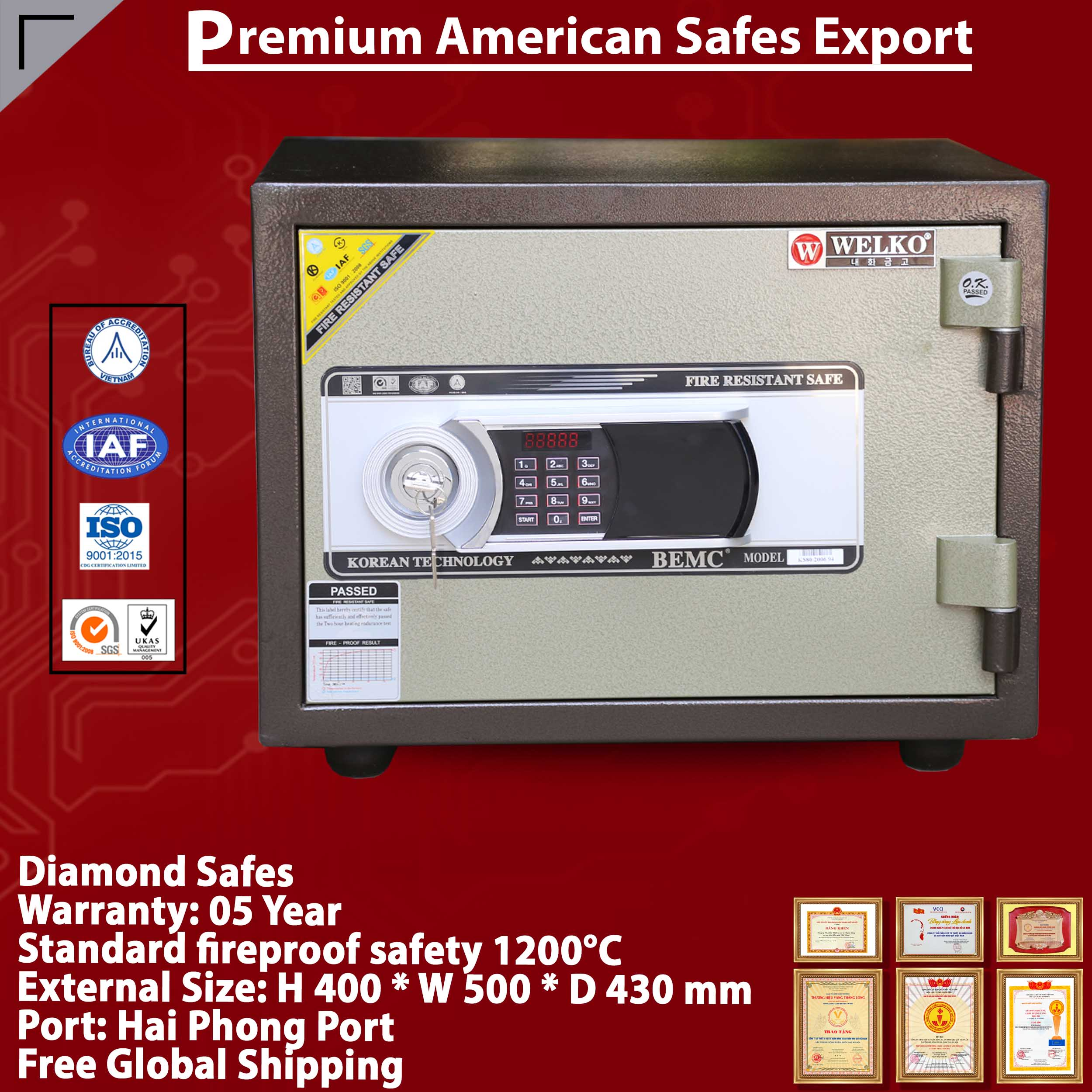 Diamond Safe KS80N LED Long Black