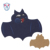 Embroidery Bat Felt Patch Pad Drink Coaster Style