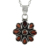 Red garnet gemstone pendant handmade 925 silver jewelry wholesale sterling silver pendants suppliers