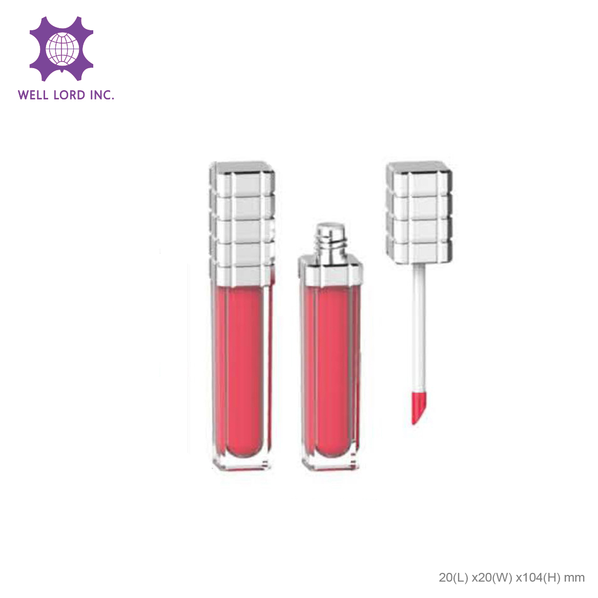 Glossy shinny screw cap with customize lip container limited edition beauty cosmetic lipsticks bottle
