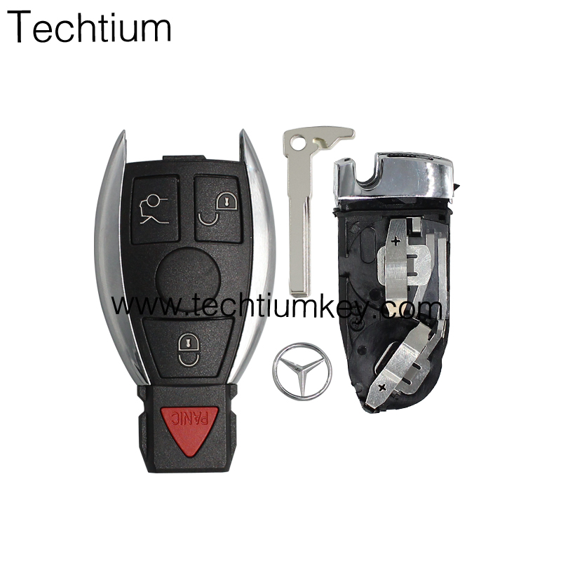 for benz ML S CLK remote <strong>key</strong> with 2 battery holders 3 and 1 button <strong>key</strong> fob &amp; case fit for mercedes benz
