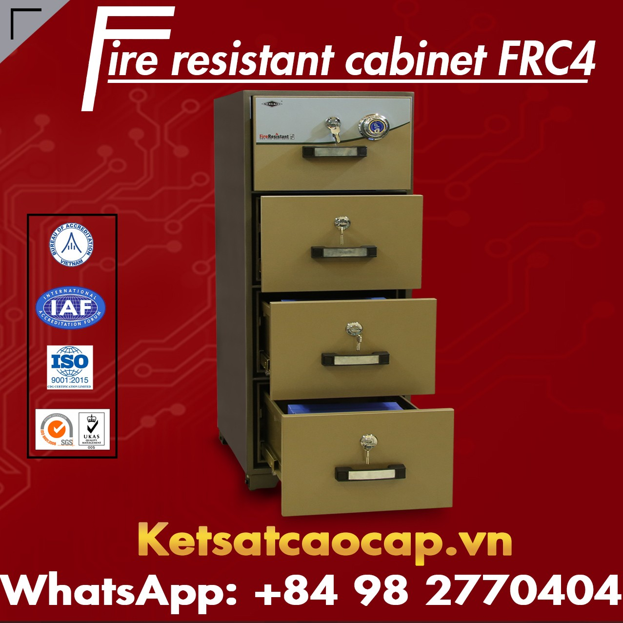 Fireproof File Cabinet - Large Manufacturer