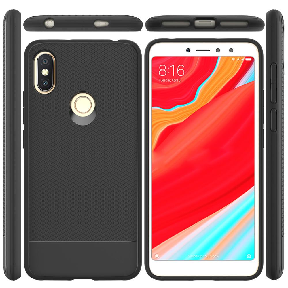 Ultra Thin Light Weight Anti Resistant Shockproof Back Cover Flexible Black TPU Case For Xiaomi Redmi S2 <strong>Y2</strong>