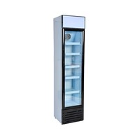 Slim 145L Supermarket Compressor Cooling Glass Door Fridge Display Cooler
