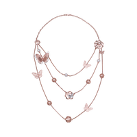 Stylish Swing Of Nature Collection 10K Gold Jewelry Necklace With Pearl And CZ Stones - PNJ brand - Vietnam