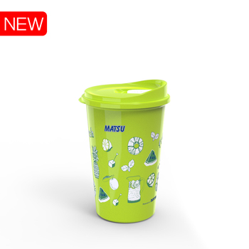 Plastic cup reusable for cold and hot water made in Vietnam 750ml 500ml