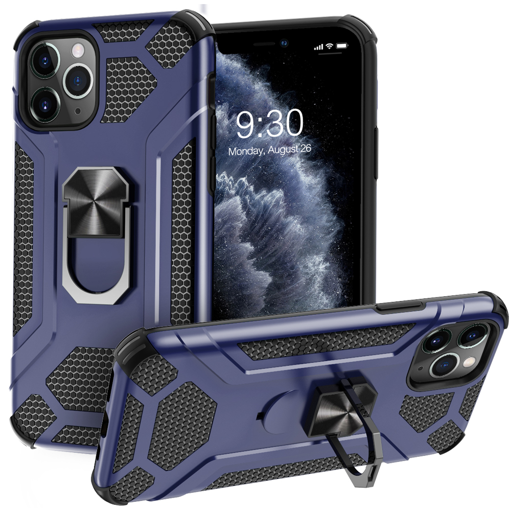 Heavy Duty Mobile <strong>Phone</strong> Case Shockproof ,Ring Holder Stand <strong>Phone</strong> Case For iPhone 11 Pro Max/11 pro/11/XS MAX/XS/XR/7 8 Plug