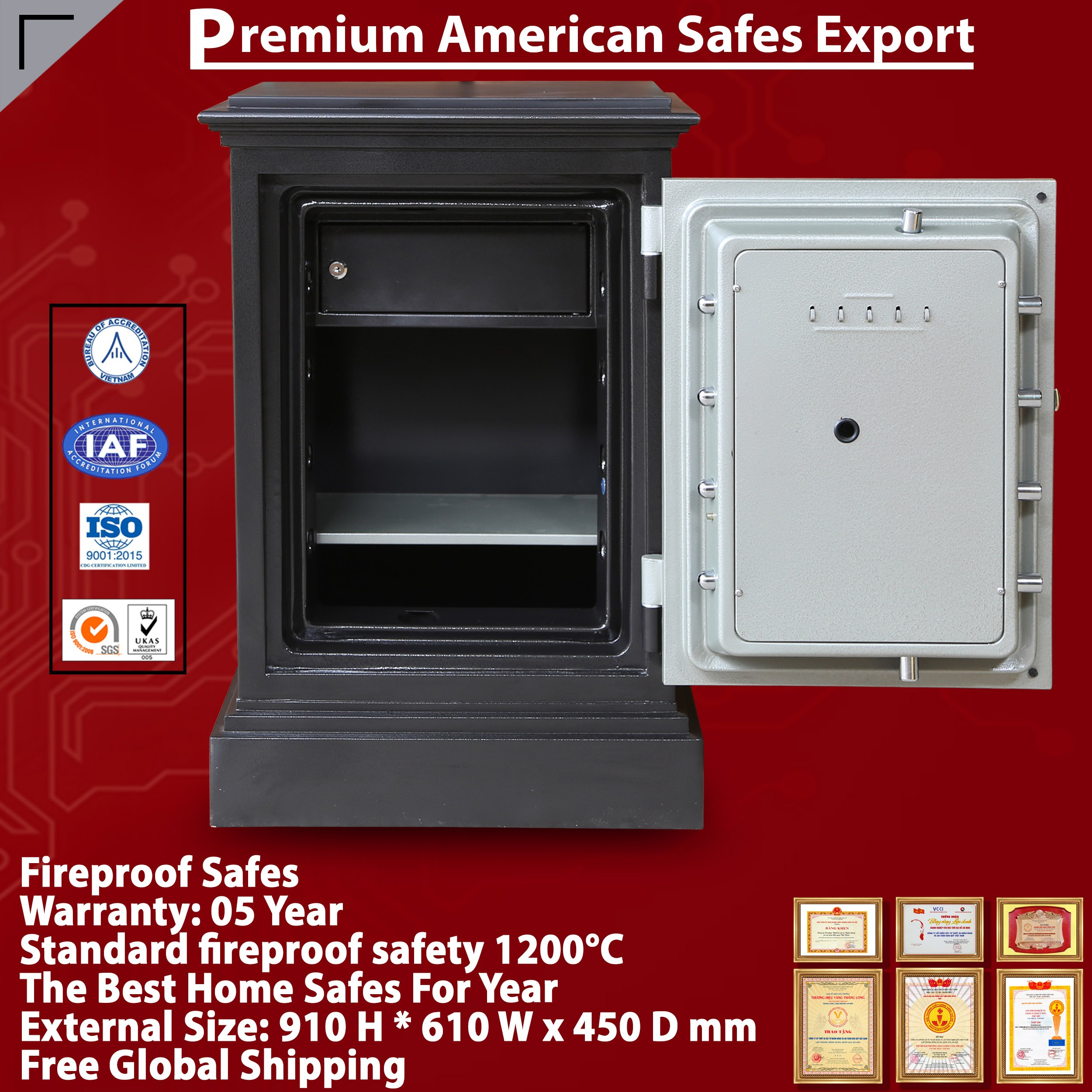 DC74 F Fingerprint Home Safes For Worldwide Wholesalers