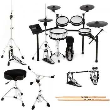 NEW Rolands V-Drums TD-50K-S Bundle 6-Piece Electronic Drum Kit with extra PDX-100 Pad and BT-1 Bar