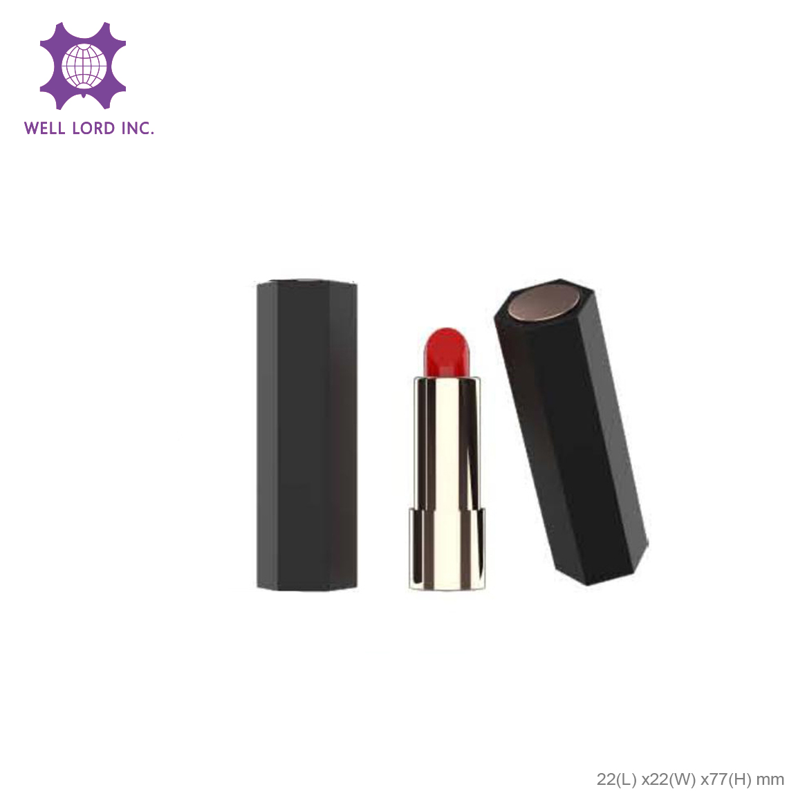 Enchanting lip tint empty case screw cap bullet custom made lipstick tube case