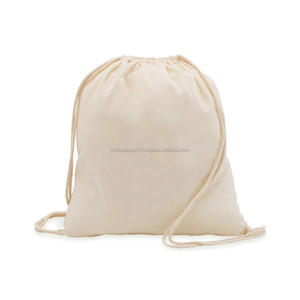Muslin Cotton drawstring bags wholesale in India