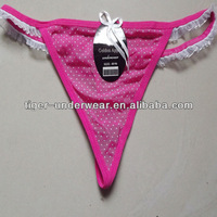 2013 cheapest 0.2usd/pcs tansparent dot cute women sexy thong