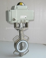 Electric cf8 stainless steel butterfly valve with ptfe seat